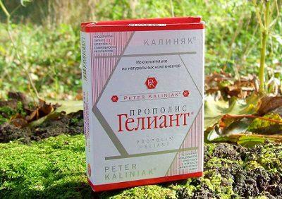 Инструкция по применению прополиса «Гелиант» с концентрацией 10% и более от ООО «Калиняк»